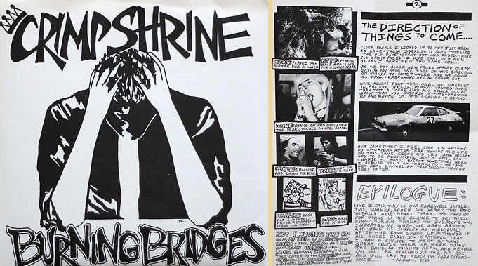 crimpshrine burning bridges 1980's california punk