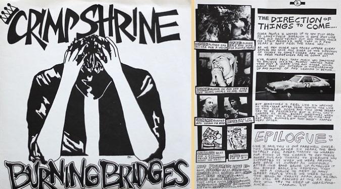crimpshrine burning bridges 1980's california punk